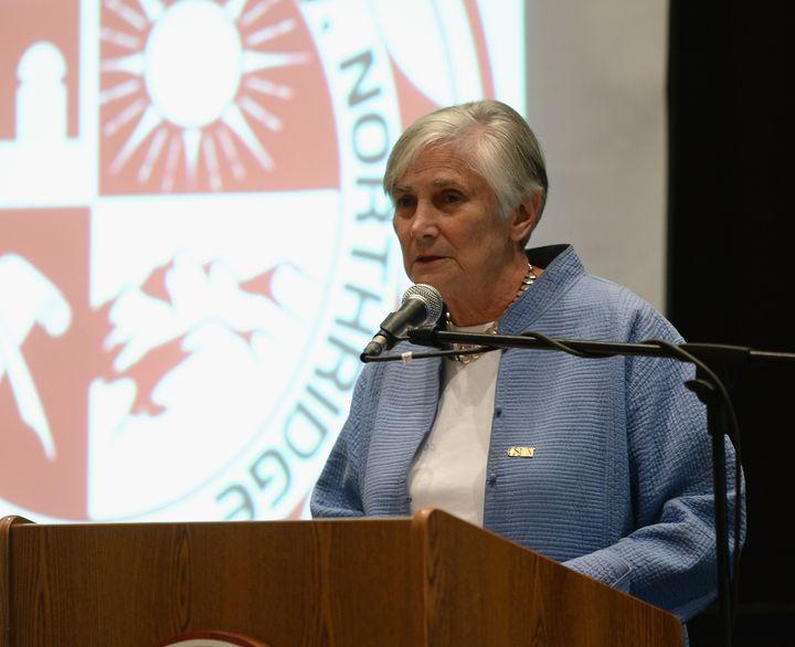 Former U.S. Assistant Secretary of Education Diane Ravitch speaks at California State University, Northridge, on Oct. 2, 2013