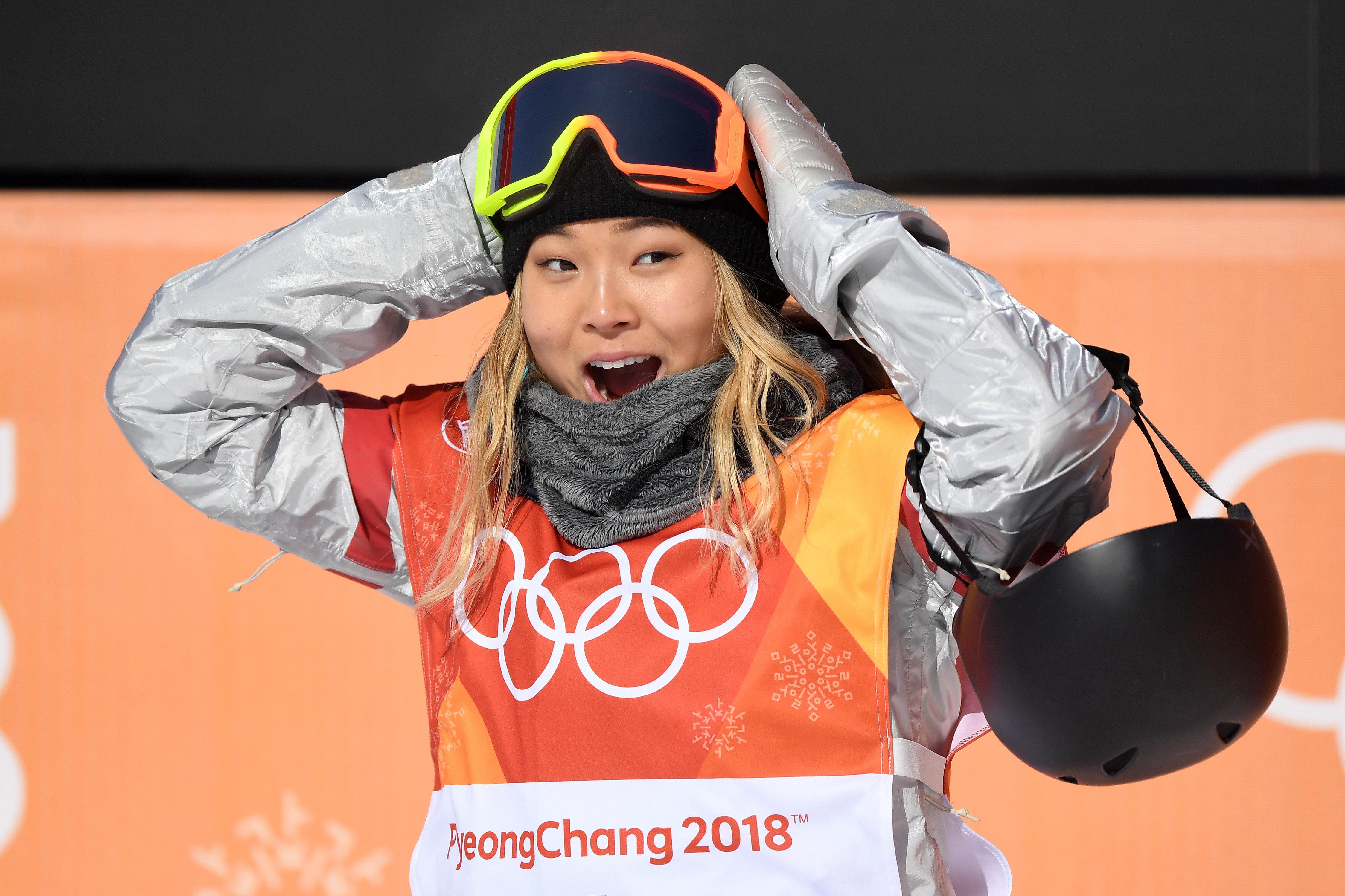 클로이 김이 스노보드 여자 하프파이프에서 금메달을