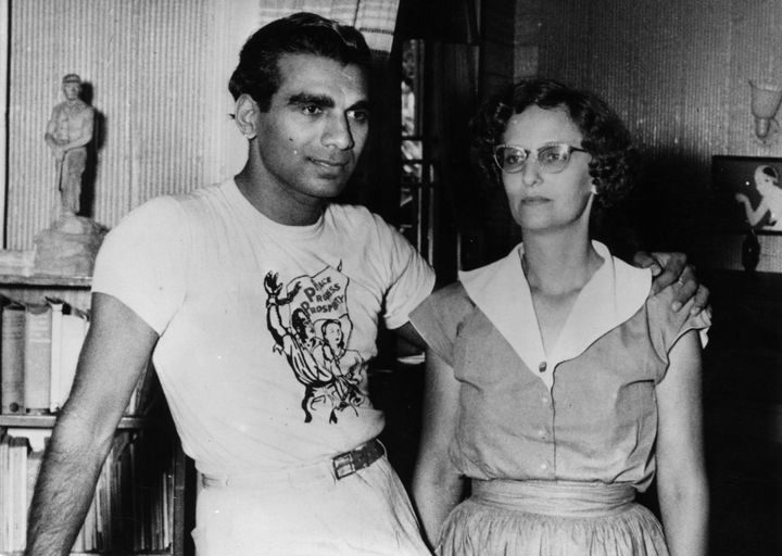 Cheddi Jagan, the former prime minister of Guyana, with his wife, Janet, in 1953.