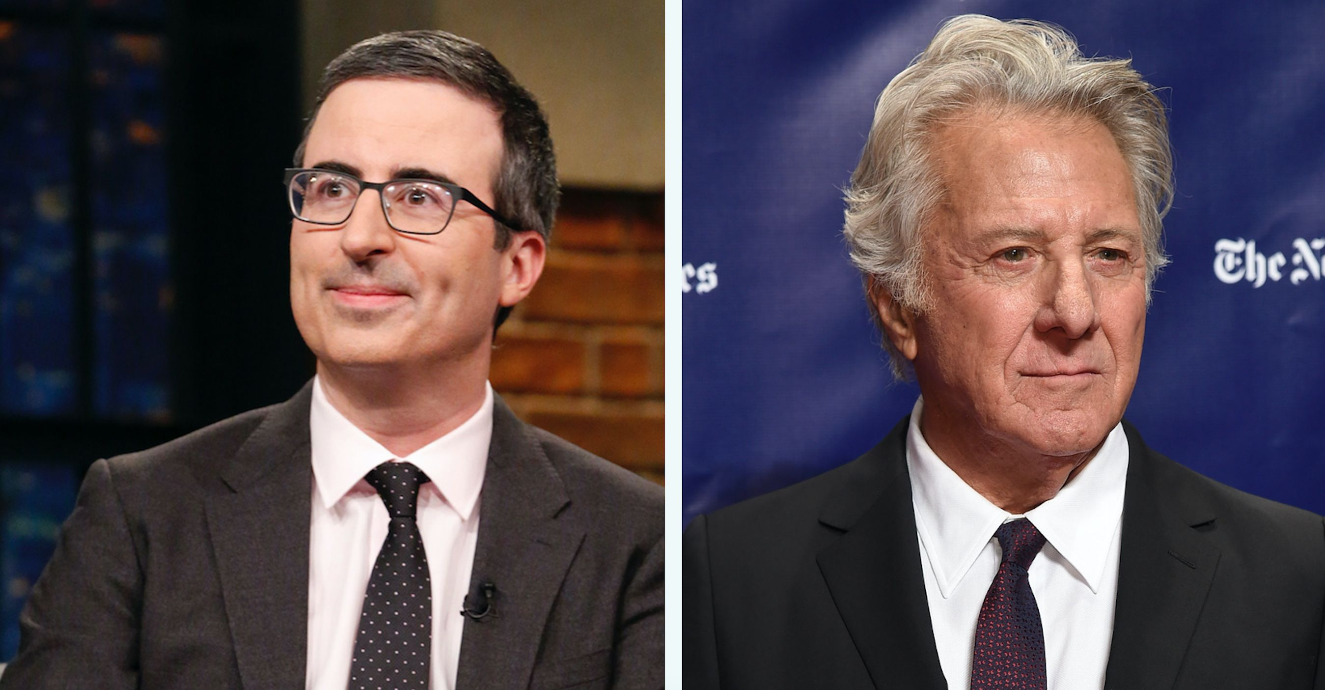 John Oliver Is Surprised Dustin Hoffman Didn't Expect Harassment Questions