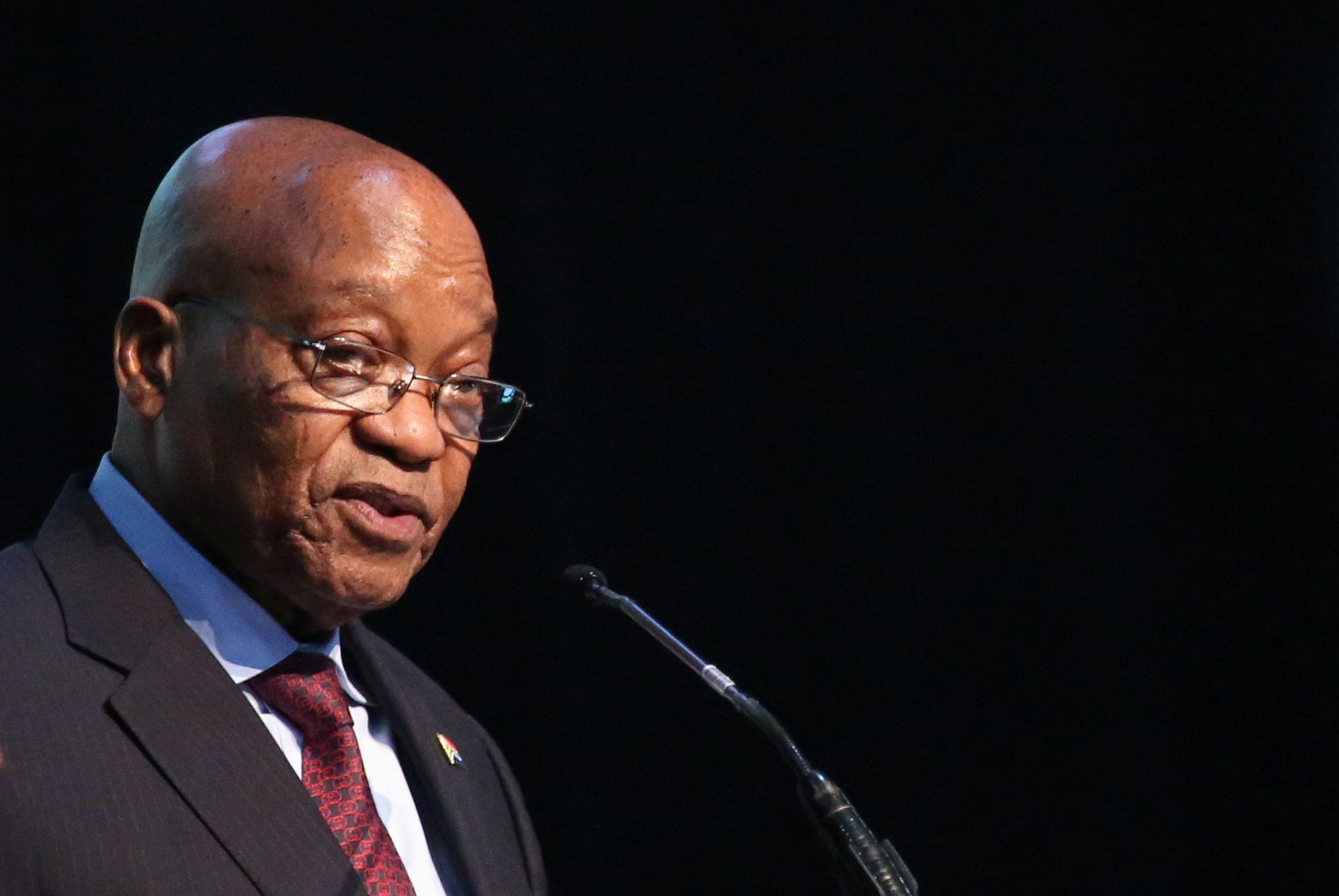 President of South Africa, Jacob Zuma speaks during the Energy Indaba conference in Midrand, South Africa, December 7, 2017. REUTERS/Siphiwe Sibeko