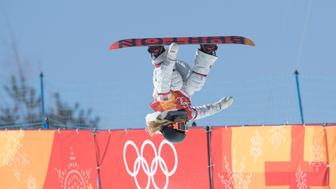 PYEONGCHANG-GUN, SOUTH KOREA - FEBRUARY 13:  Chloe Kim of the United States during the Snowboard Ladies' Halfpipe Final on day four of the PyeongChang 2018 Winter Olympic Games at Phoenix Snow Park on February 13, 2018 in Pyeongchang-gun, South Korea.  (Photo by XIN LI/Getty Images)