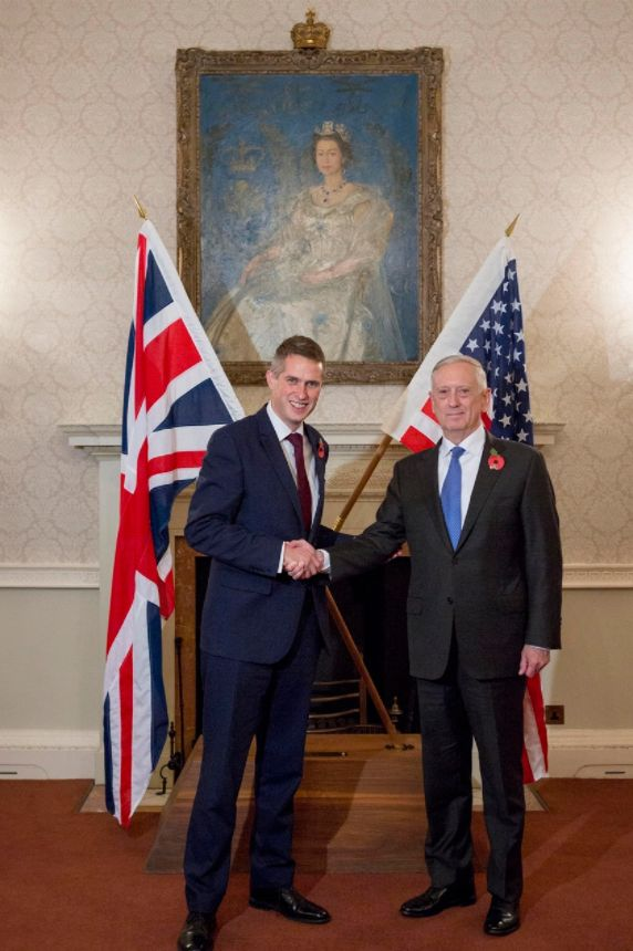 Defence Secretary Gavin Williamson and US counterpart Jim Mattis are to meet to discuss what to do with...