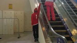 Τον πιο ευφάνταστο τρόπο να ανέβει τις κυλιόμενες σκάλες είχε ο σκιέρ Fabian