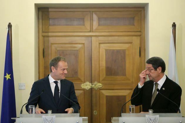 Τηλεφωνική επικοινωνία Αναστασιάδη-Τουσκ για τις τουρκικές προκλήσεις. Διάβημα στον