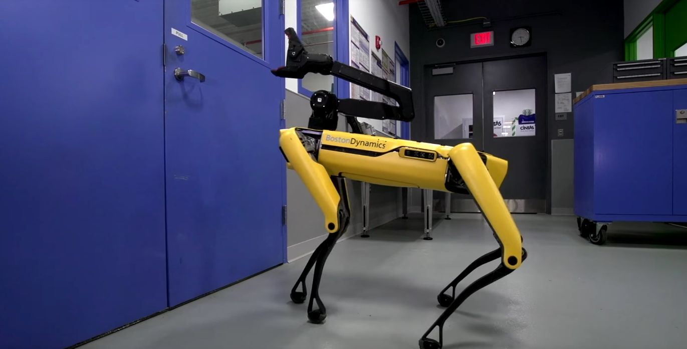 In A Worrying Twist, Boston Dynamics' Robot Dog Can Now Open Doors For Its Robot