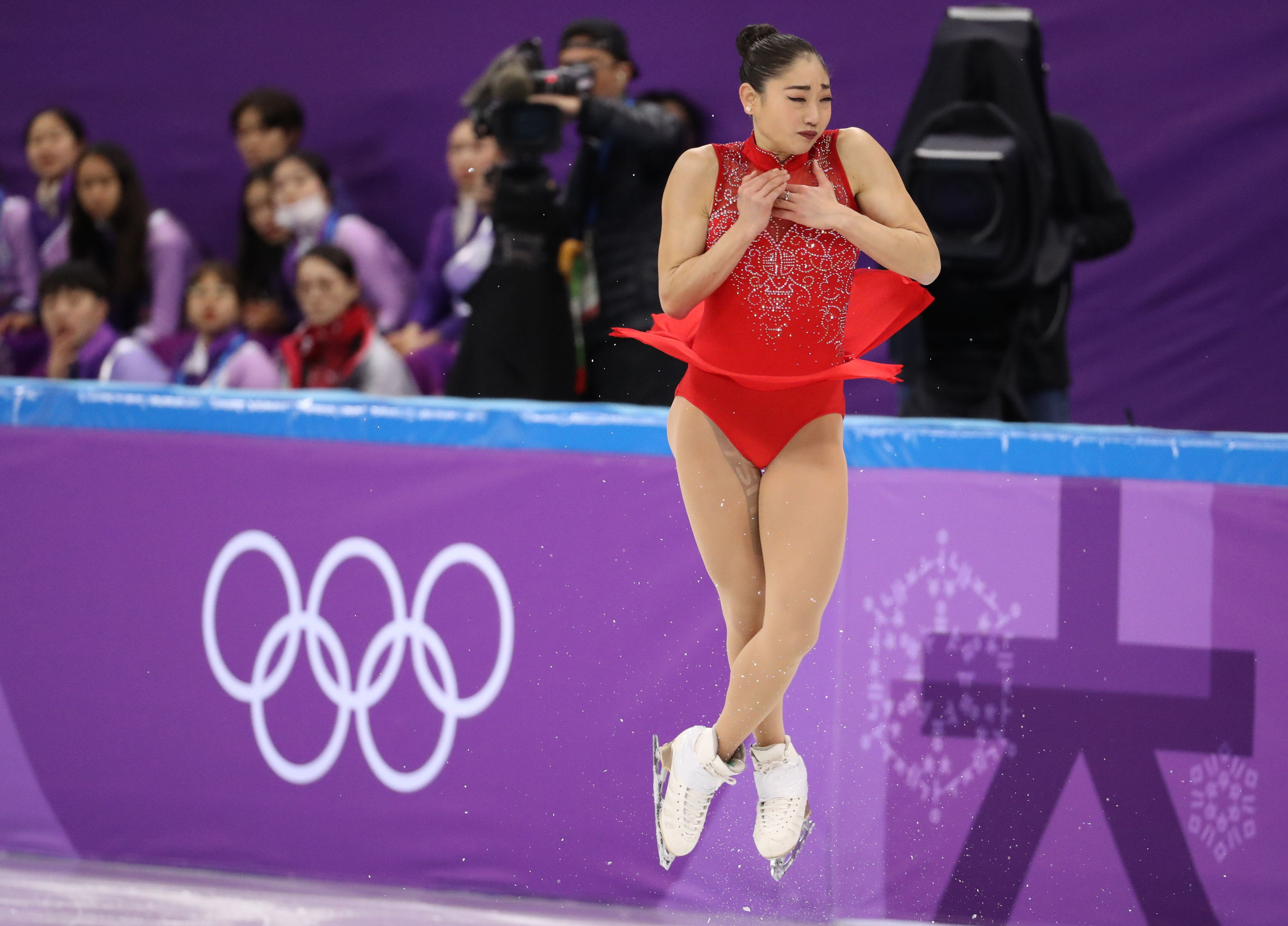 Figure Skating – Pyeongchang 2018 Winter Olympics – Team Event Women's Single Skating Free Skating competition final – Gangneung Ice Arena - Gangneung, South Korea – February 12, 2018 - Mirai Nagasu of the U.S. competes. REUTERS/Lucy Nicholson