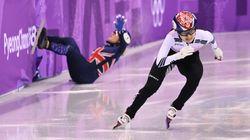 쇼트트랙 여자 500m 결승 최민정이 '실격' 판정을