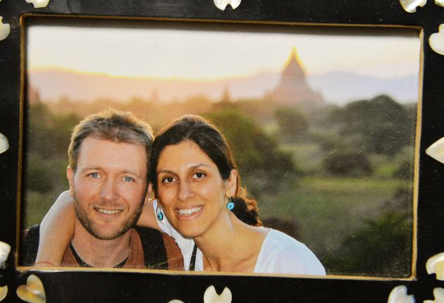 Richard Ratcliffe in a picture with his wife Nazanin who has been in jail since April