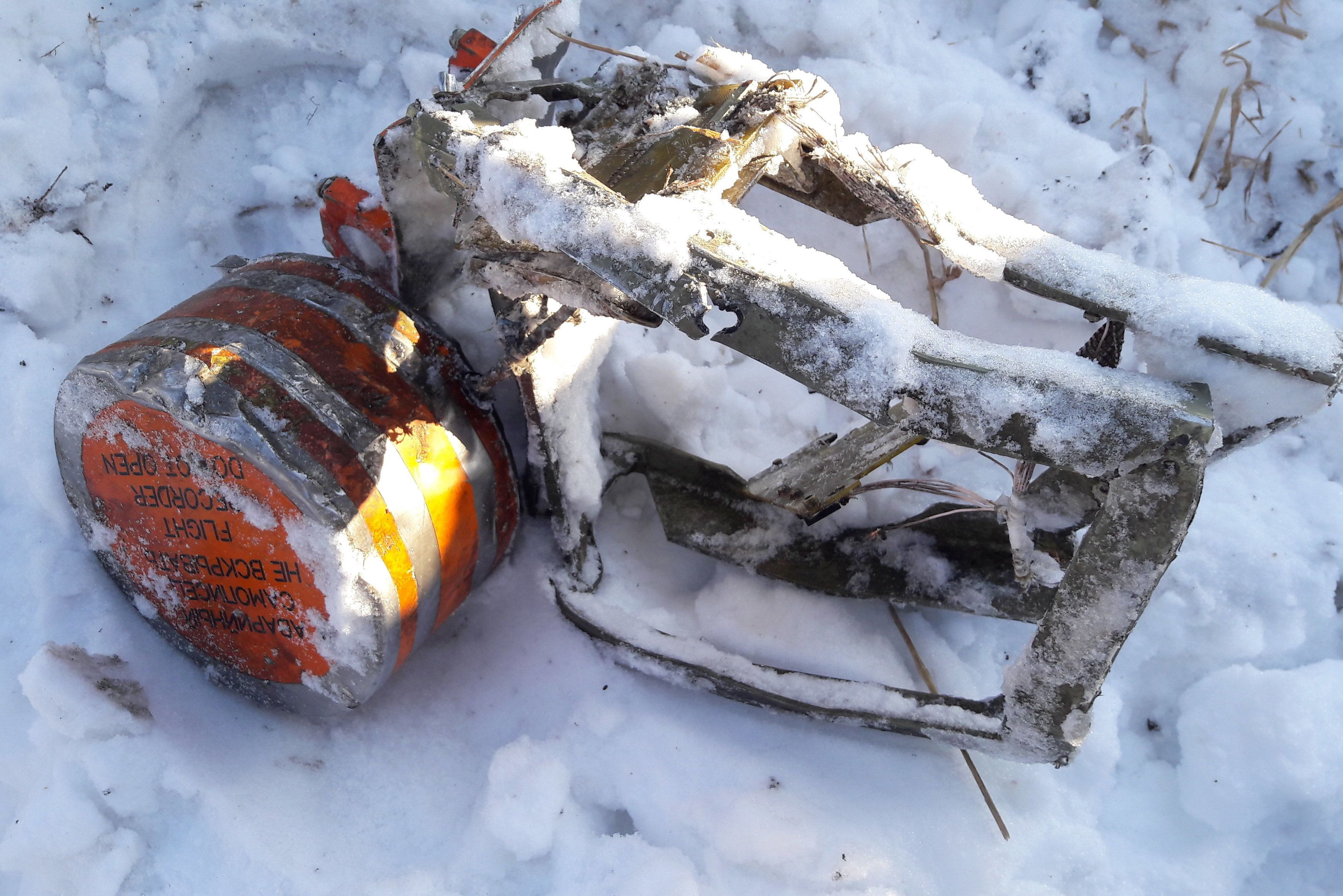 <strong>A flight recorder found at the scene of the crash</strong>