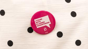 PHILADELPHIA, PA - JANUARY 25: Actress Ali Larter, 'I Stand With Planned Parenthood' pin button detail, attends Planned Parenthood 2017 Philadelphia Action Forum at Philadelphia Episcopal Cathedral on January 25, 2017 in Philadelphia, Pennsylvania.  (Photo by Gilbert Carrasquillo/Getty Images)