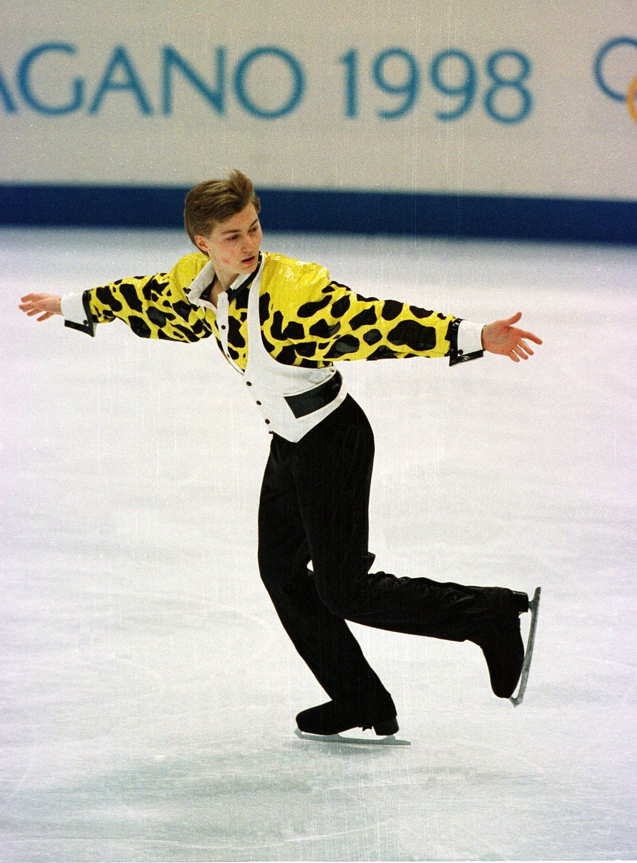 The Russian competing at the 1998 Winter Olympics in Nagano, Japan.