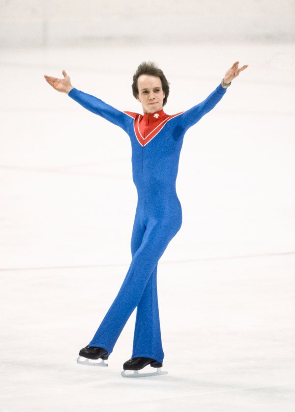 The American fan favorite skates his long program during the men's singles competition at the 1984 Winter Olym
