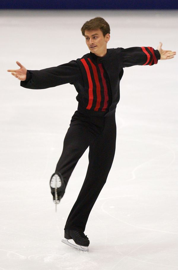 The American performs in the men's short program in Salt Lake City.
