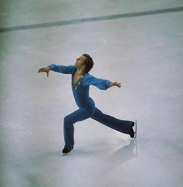 The Canadian skater performs at the 1976 Winter Olympics in Innsbruck, Austria.