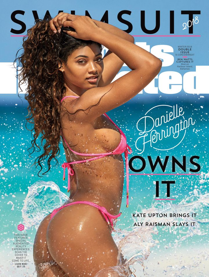 Model Danielle Herrington poses in Aruba for the 2018 Sports Illustrated Swimsuit cover.