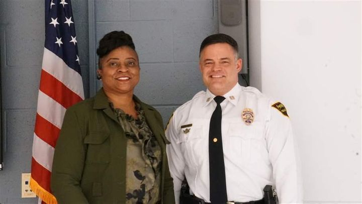 Sgt. Sheila Washington and Capt. Lars Paul of the Fayetteville, North Carolina, police force support local harm reduction pro