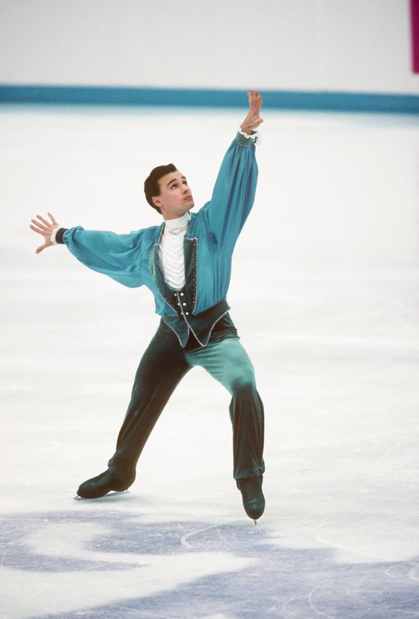 The Russian competes in the free skate portion of the men's figure skating singles competition at the 1994 Winter Olympi
