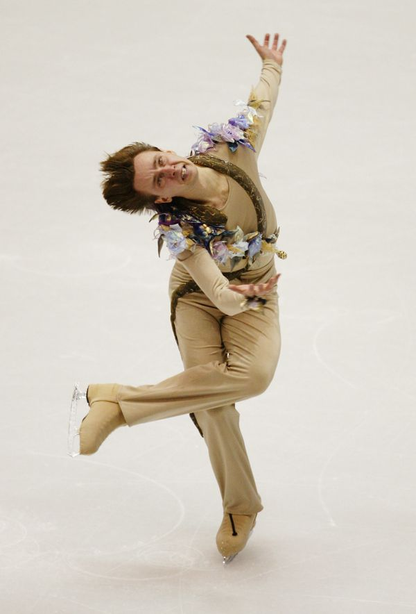 Performing his men's short program for Ukraine at the Winter Olympics in Salt Lake City, Utah.