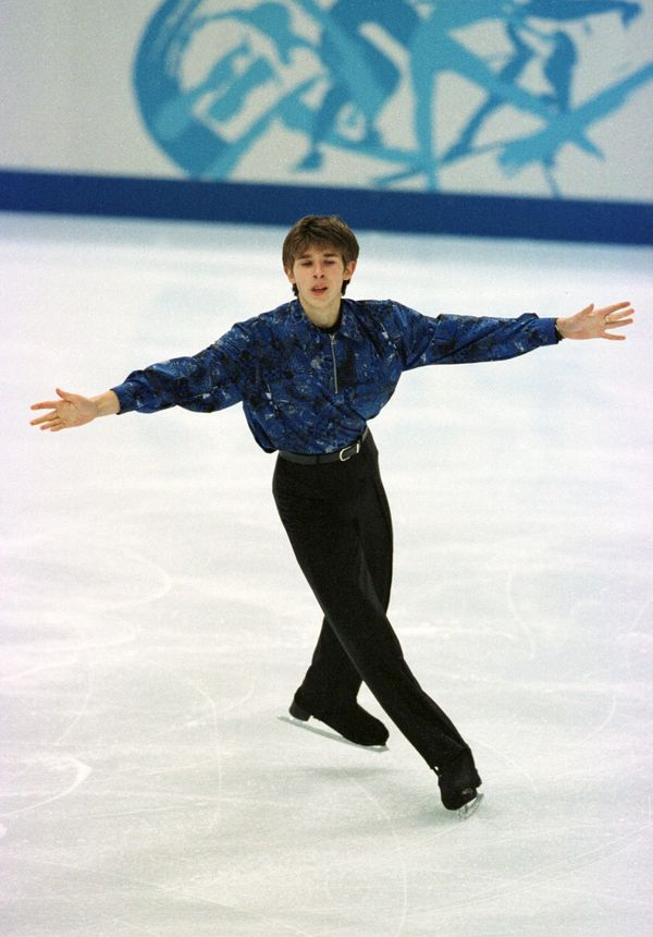 The Estonian skater at the 1998 Winter Olympics in Nagano, Japan.