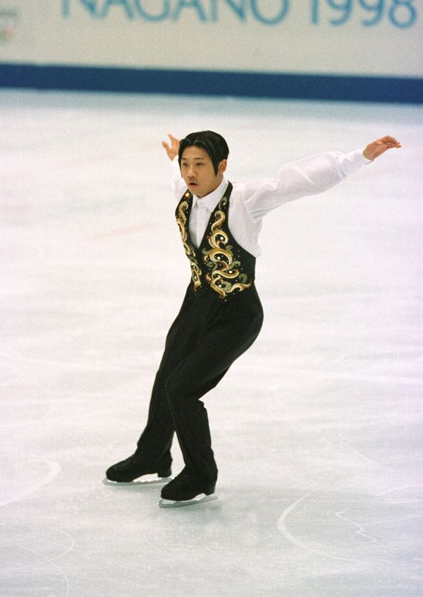 The South Korean performs at the 1998 Winter Olympics in Nagano, Japan.