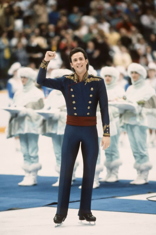 The Californian competes in the final of the men's singles figure skating event of the 1988 Winter Olympic Games in Calgary,