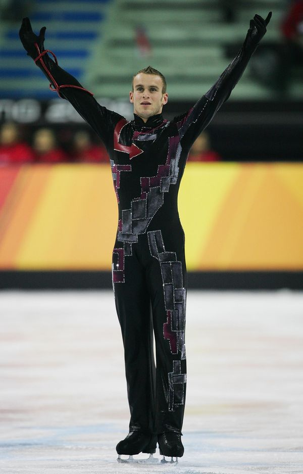The Belgian competes in the men's short program at the 2006 Winter Olympics in Turin, Italy.
