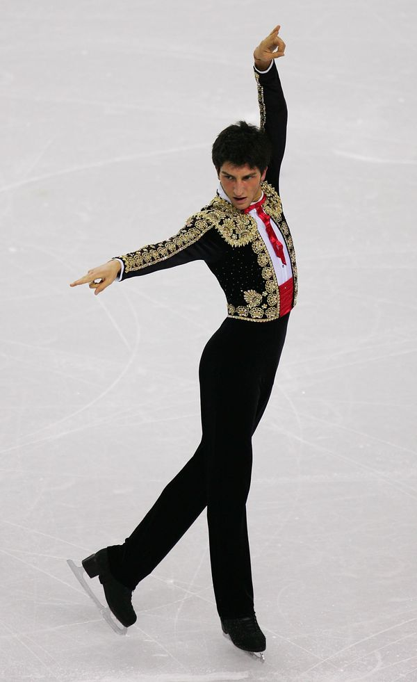 The American competes in the men's short program at the Turin Games in 2016 in Italy.