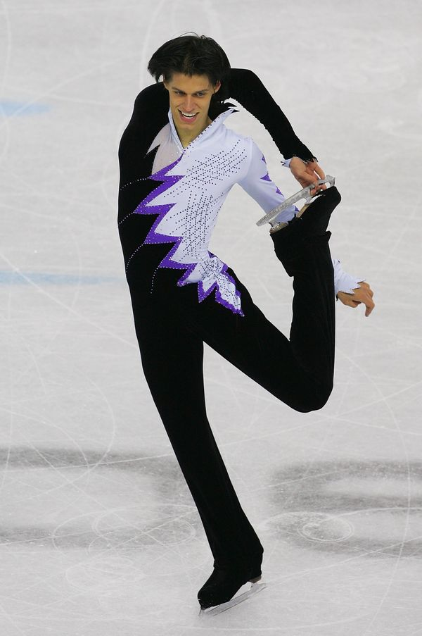The Austrian competes in the men's free skate program final in Turin, Italy.