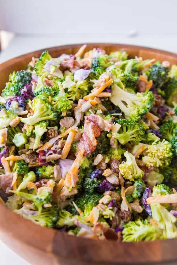 """<strong>Get the <a href=""""https://ohsweetbasil.com/broccoli-salad/"""" target=""""_blank"""">Best Broccoli Salad </a>recipe from Oh Swe"""