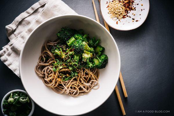 "<strong>Get the <a href=""http://iamafoodblog.com/broccoli-soba-bowl-recipe/"" target=""_blank"">Broccoli Soba Bowl </a>recipe fr"