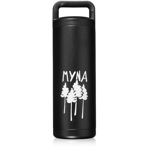 Myna's Forum bottleis made with double insulated 18/8 stainless steel, and keeps drinks cold for up to 24 hours and hot