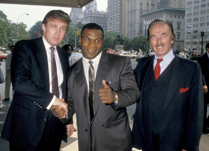 Donald Trump, Mike Tyson and Fred Trump.