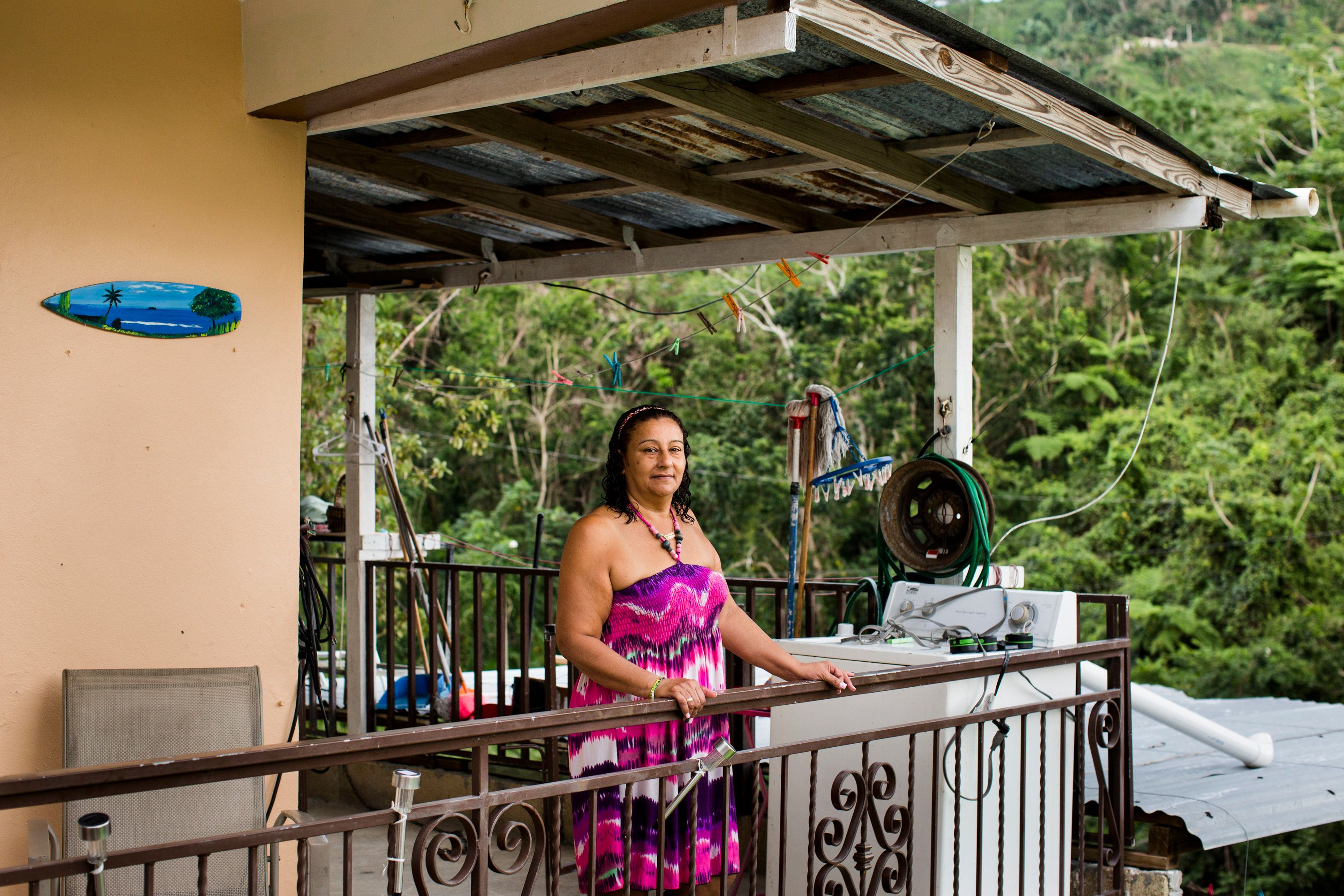 Carmen Bonilla Ramos, former housekeeper at the Tres Sirenas Inn, poses for a portrait at her home in Rincón, P.R., on Wed., January 24, 2018. Bonilla, who  worked at the boutique hotel for over a decade, lost her job after hurricane Maria damaged the business. Her home is still without power, four months after the disaster.  After hurricane Maria ravaged the island on Sep. 20, 2017, hundreds of thousands of people have left the island and many businesses have been affected. (Erika P. Rodriguez / Huffington Post)