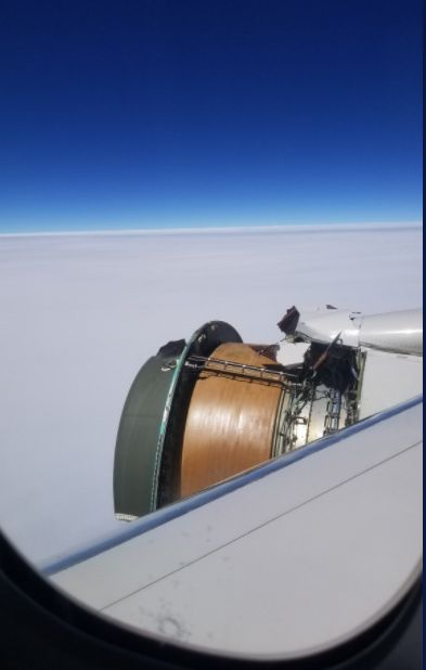 Maria Falaschi said United Flight 1175 was less than 40 minutes away from Honolulu when she heard a loud bang.