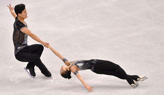 북한 피겨 페어 렴대옥·김주식이 첫 올림픽에서 최고의 연기를