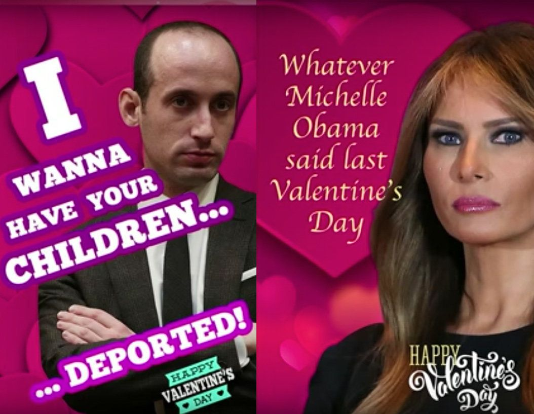 Jimmy Kimmel 'Reveals' The Trump White House's Valentine's Day Cards