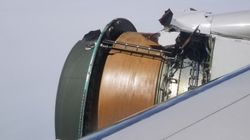 United Airlines Makes Emergency Landing As Engine Cover Rips Apart