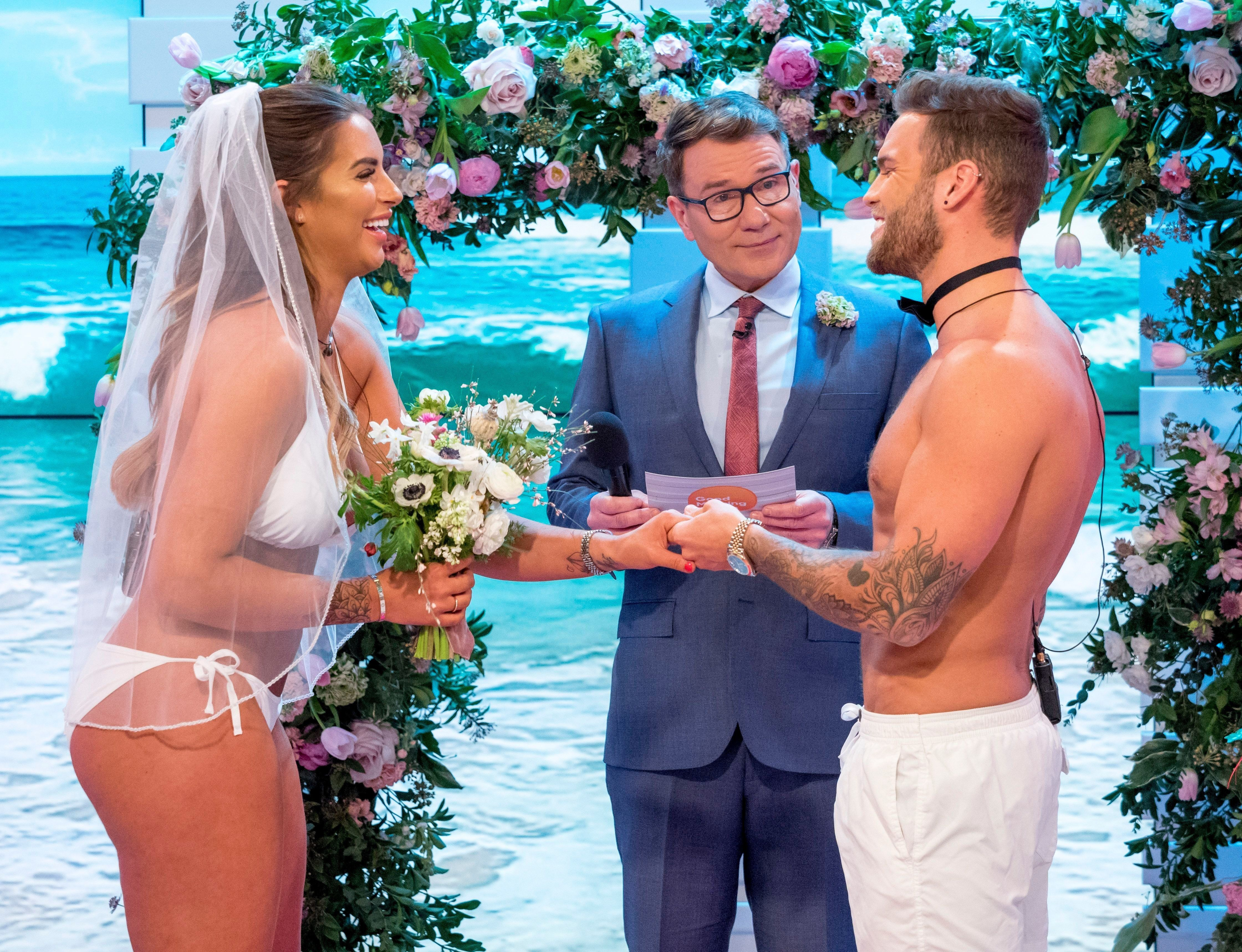'Good Morning Britain' Viewers Can't Help But Cringe As Love Island's Jess And Dom Get 'Married' Live On
