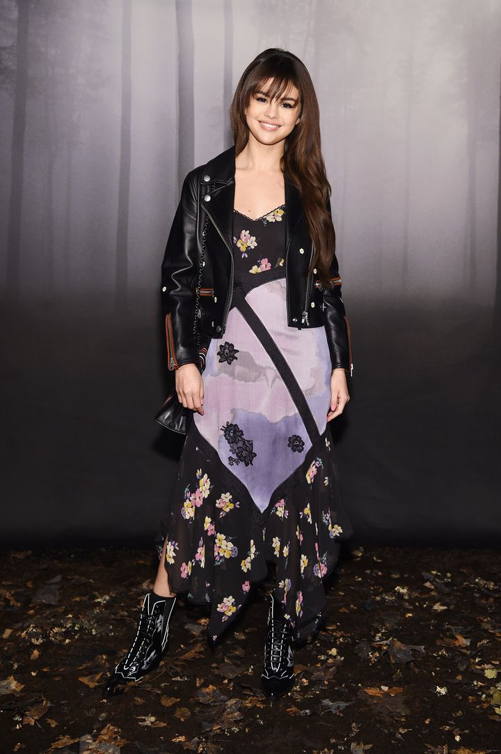 Selena Gomez at the Coach 1941 show at New York Fashion Week on Feb. 13.