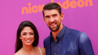 2017 Kids Choice Sport Awards – Arrivals – Los Angeles, California, U.S., 13/07/2017 - Olympic swimmer Michael Phelps and wife Nicole Johnson. REUTERS/Patrick T. Fallon