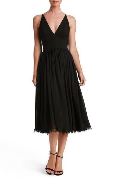 """By Dress The Population at <a href=""""https://shop.nordstrom.com/s/dress-the-population-alicia-mixed-media-midi-dress/4686720?o"""