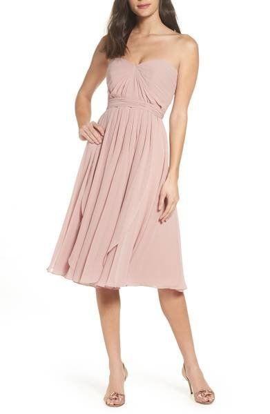 "By Jenny Yoo at <a href=""https://shop.nordstrom.com/s/jenny-yoo-emmie-convertible-chiffon-tea-length-dress/4804900?origin=key"