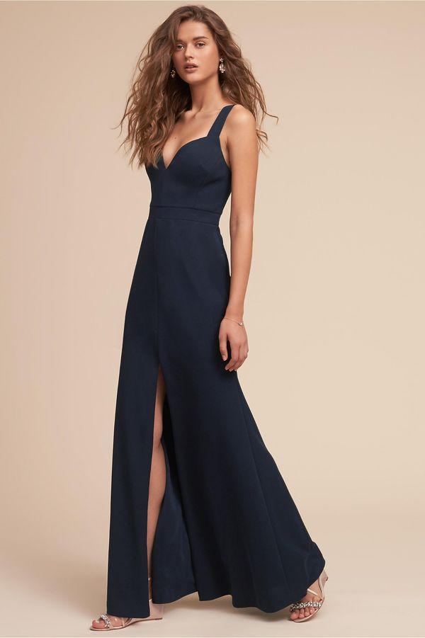 "By BHLDN at<a href=""https://www.bhldn.com/bridal-party-bridesmaid-dresses/ansel-dress-navy/productoptionids/129488db-90"