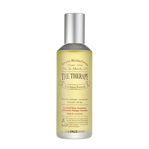 The anti-aging treatment is formulated with an essential ingredient that functions as a toner and booster to even out rough a