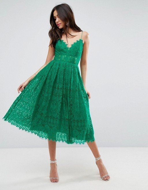 """By ASOS Collection at <a href=""""http://us.asos.com/asos/asos-lace-cami-midi-prom-dress/prd/8621548?CTARef=Saved%20Items%20Imag"""