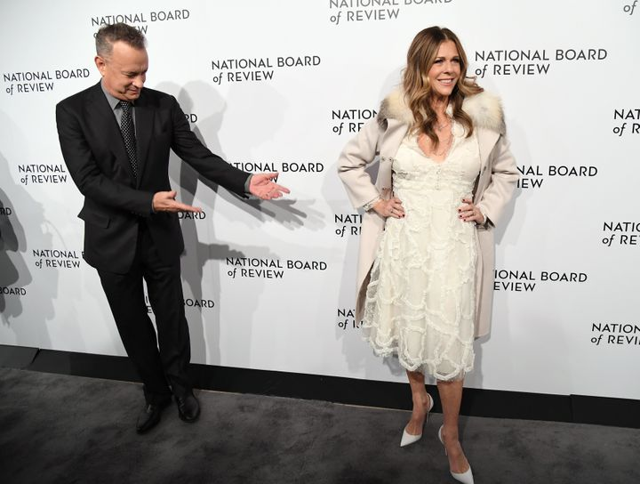 Tom Hanks and Rita Wilson attend the National Board of Review Awards Gala in New York in January.