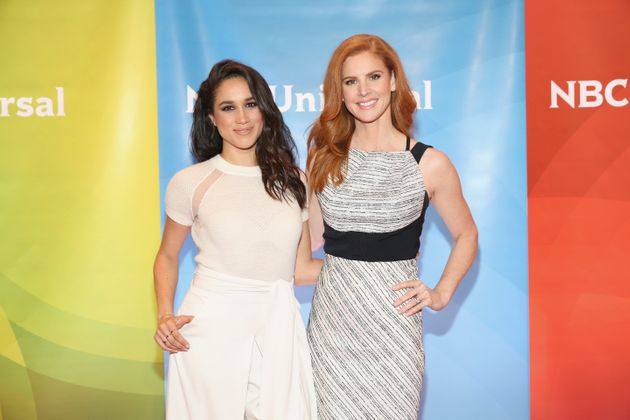 Markle with her former co-star, Sarah Rafferty, on June 24, 2015 in