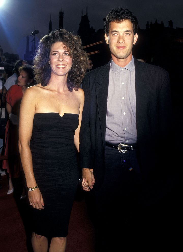 Wilson and Hanks in 1987.
