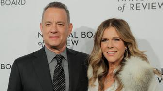 Actor Tom Hanks and his wife, Rita Wilson, arrive to attend the National Board of Review awards gala in New York, U.S., January 9, 2018.  REUTERS/Lucas Jackson